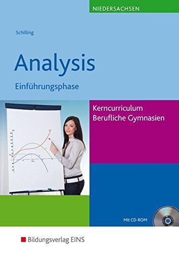 9783427055501: Analysis. Lehr-/Fachbuch. Einführungsphase -Kerncurriculum. Niedersachsen