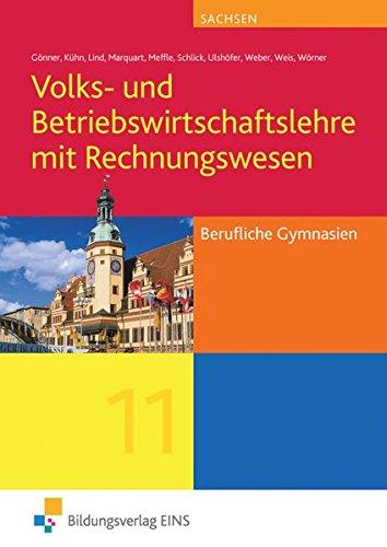 9783427215134: VWL/BWL/Rewe 1. Berufliche Gymnasien. Sachsen