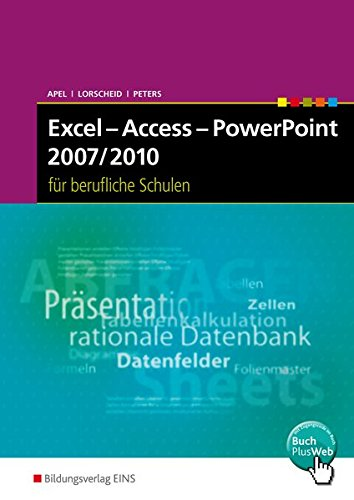 9783427301707: Excel - Access - PowerPoint 2007/2010