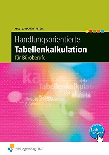 9783427315032: Handlungsorientierte Tabellenkalkulation. Schülerbuch