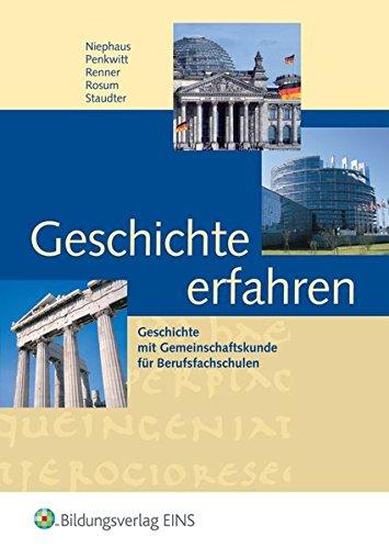 9783427384007: Geschichte erfahren. Lehr- und Fachbuch. Badern-Württemberg. Mit CD-ROM