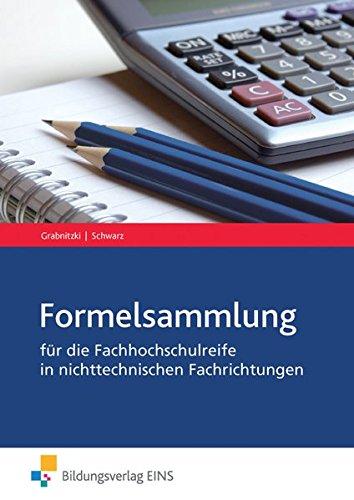 9783427485797: Formelsammlung: Mathematik für die Fachhochschulreife in nichttechnischen Fachrichtungen Formelsammlung