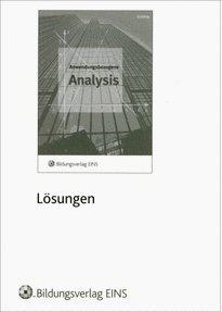 9783427600183: Analysis - anwendungs- und berufsbezogen. Lösungen