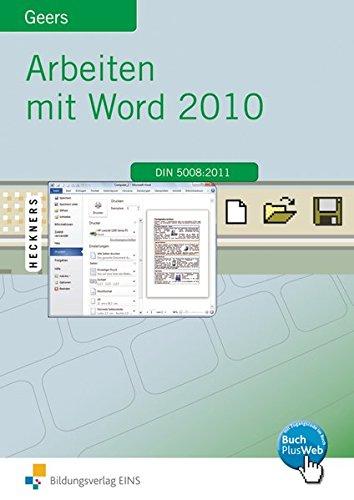 9783427610205: Arbeiten mit Word 2010. Lehr-/Fachbuch