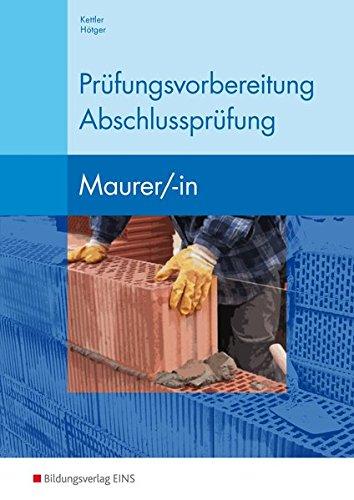 9783427660200: Prüfungsvorbereitung Abschlussprüfung Maurer/-in: Arbeitsbuch