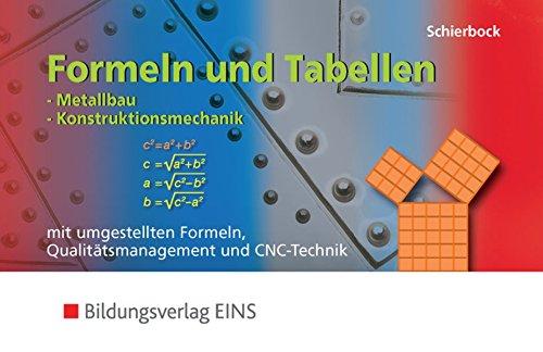 Formeln und Tabellen für Metallbau-Berufe