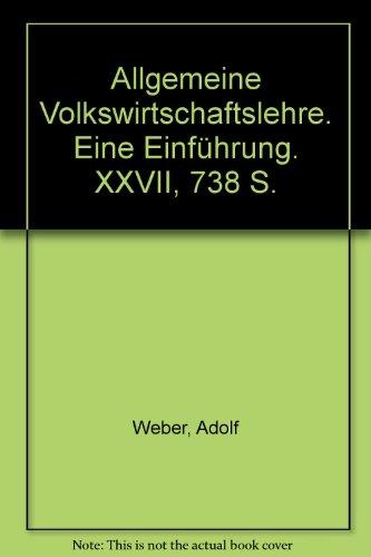 9783428016372: Allgemeine Volkswirtschaftslehre Eine Einfuehrung