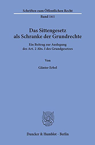 9783428024612: Erbel: Sittengesetz