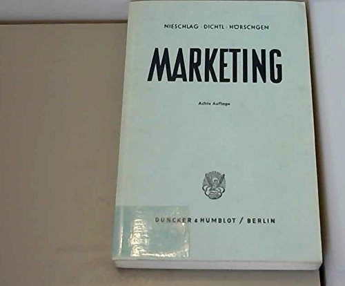 9783428035366: Marketing