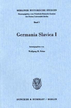9783428047130: Germania Slavica I