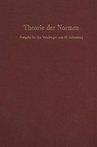 Theorie der Normen: Werner Krawietz