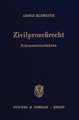9783428059010: Zivilprozessrecht: Erkenntnisverfahren