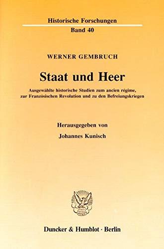 Staat und Heer: Werner Gembruch