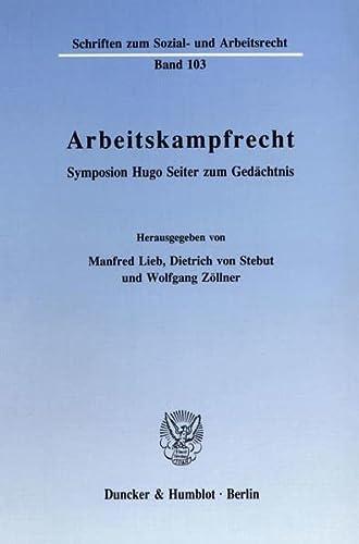 Arbeitskampfrecht: Manfred Lieb