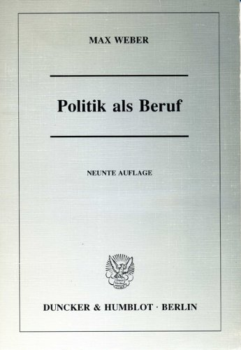 9783428071357: Politik als Beruf