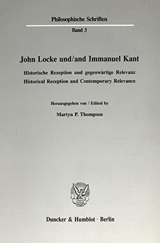 john locke and immanuel kant essay Life and work locke's father, also called john, was a country lawyer and clerk to the justices of the peace in chew magna, who had served as a captain of cavalry for the parliamentarian.