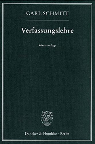 9783428076031: Verfassungslehre.