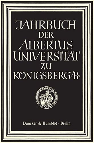 Jahrbuch der Albertus-Universität zu Königsberg/Pr. Band XXVIII