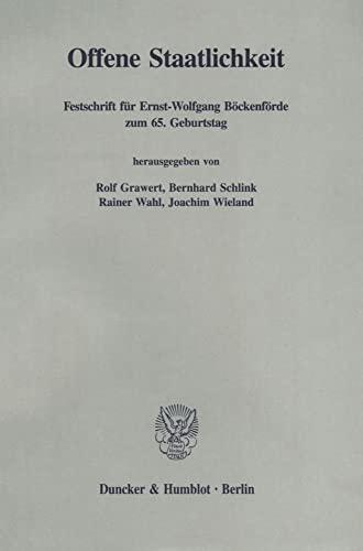 Offene Staatlichkeit: Rolf Grawert