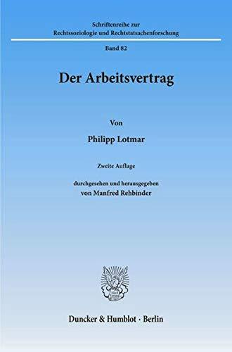 Der Arbeitsvertrag: Philipp Lotmar