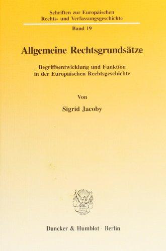 Allgemeine Rechtsgrundsätze: Sigrid Jacoby