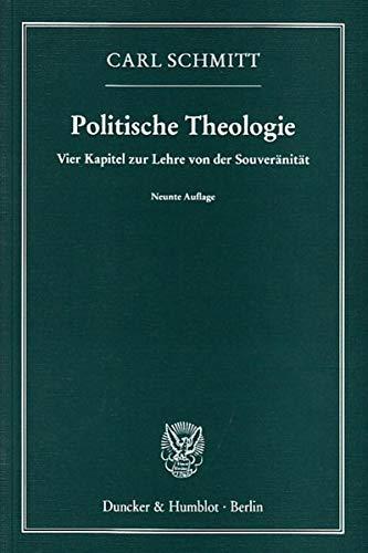 9783428088058: Politische Theologie: Vier Kapitel zur Lehre von der Souveränität