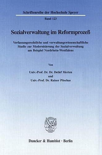 Sozialverwaltung im Reformprozeß: Detlef Merten