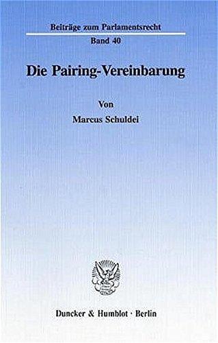 Die Pairing-Vereinbarung: Marcus Schuldei