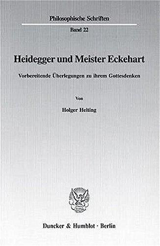 Heidegger und Meister Eckehart: Holger Helting