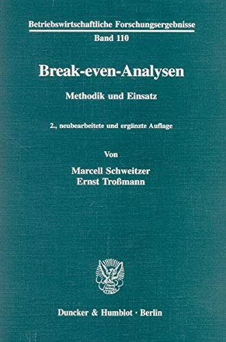 9783428090884: Break-even-Analysen: Methodik und Einsatz