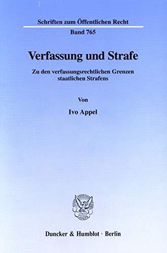 Verfassung und Strafe: Ivo Appel
