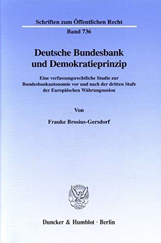 Deutsche Bundesbank und Demokratieprinzip: Frauke Brosius-Gersdorf