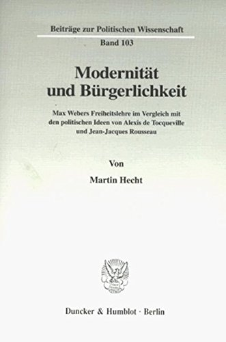Modernität und Bürgerlichkeit.: Martin Hecht