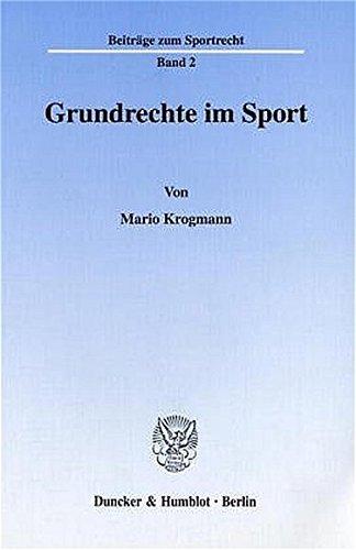 Grundrechte im Sport.: Mario Krogmann