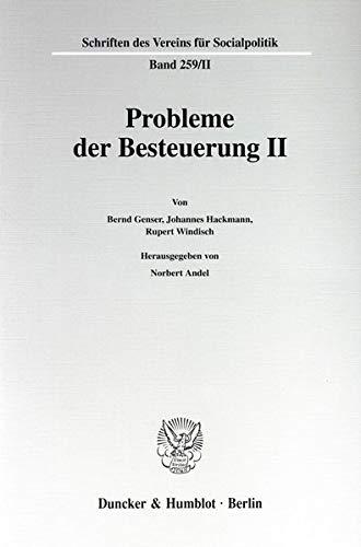 Probleme der Besteuerung II.: Norbert Andel