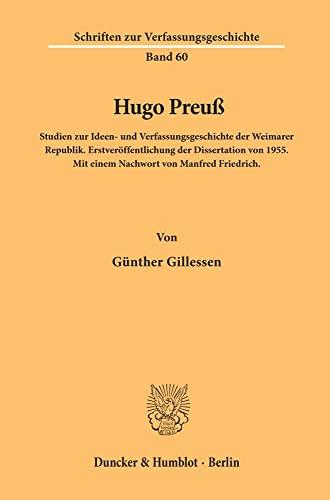 Hugo Preuß.: Günther Gillessen