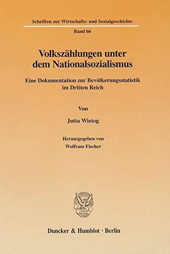 Volkszählungen unter dem Nationalsozialismus: Jutta Wietog