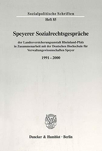 Speyerer Sozialrechtsgespräche