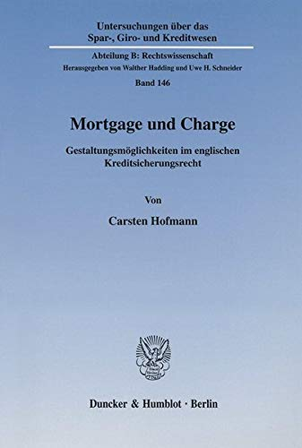 9783428108008: Mortgage und Charge.