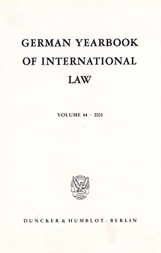 German Yearbook of International Law / Jahrbuch für Internationales Recht.: Jost Delbr�ck