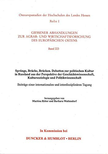 Sprünge, Brüche, Brücken. Debatten zur politischen Kultur: Martina Ritter, Barbara