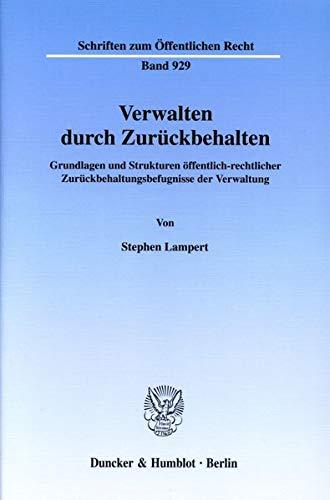 Verwalten durch Zurückbehalten.: Stephen Lampert