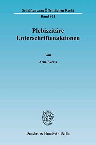 Plebiszitäre Unterschriftenaktionen: Arne Everts