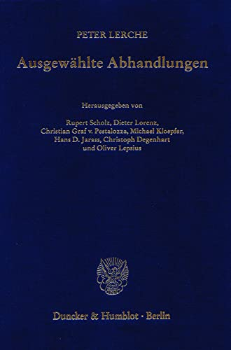 9783428114689: Ausgewählte Abhandlungen