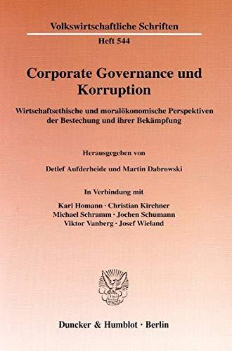 Corporate Governance und Korruption: Detlef Aufderheide