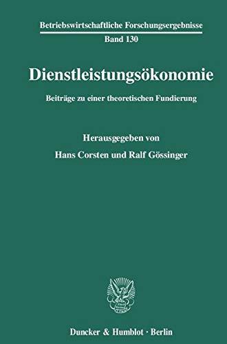 Dienstleistungsökonomie: Hans Corsten