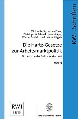 9783428115358: Die Hartz-Gesetze zur Arbeitsmarktpolitik