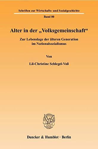 """Alter in der """"Volksgemeinschaft"""": Lil-Christine Schlegel-Voß"""