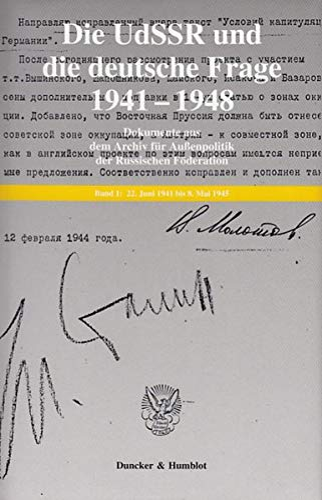 9783428115587: Die UdSSR und die deutsche Frage 1941 - 1948. Bd. 2