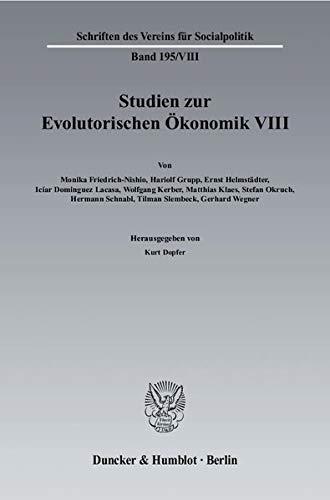 9783428115709: Studien zur Evolutorischen Ökonomik / Evolutorische Wirtschaftspolitik - Grundlagen und Anwendungsmodelle
